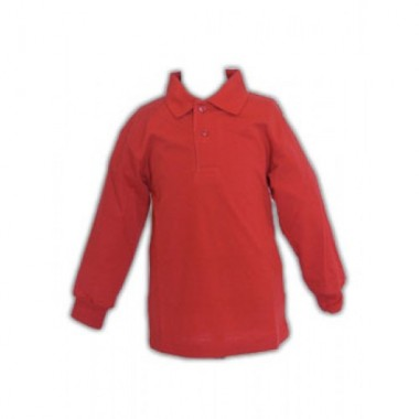 The Hawthorns - Red Long Sleeved Polo