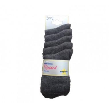 The Hawthorns - Short Grey Socks 5pp