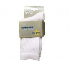 Langley - White Sports Socks 2pp