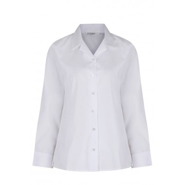 St Michaels - Long Sleeved White Blouses (Twin Pack)
