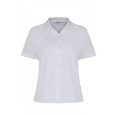 St Michaels - Short Sleeved White Blouses (Twin Pack)