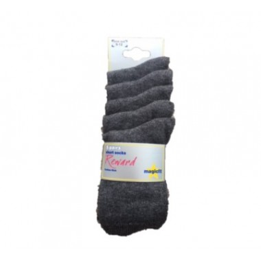 St Michaels - Short Grey Socks 5pp