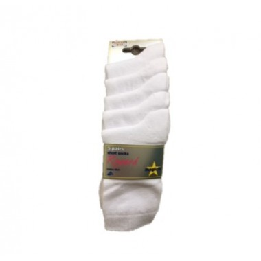 St Michaels - Short White Socks 5pp