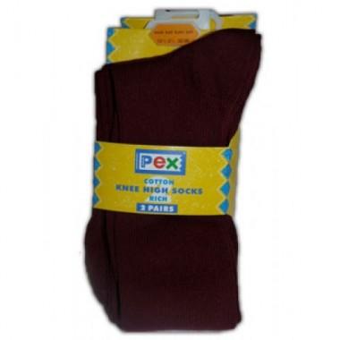 St Michaels - Long Maroon Socks 2pp
