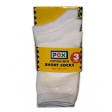 St Michaels - Short White Socks 3pp