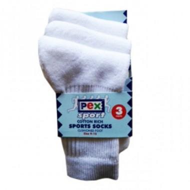 St Michaels - White Sports Socks 3pp